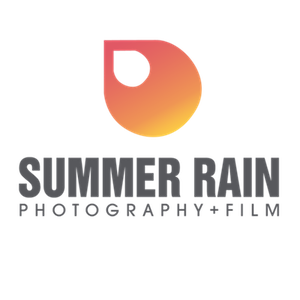 summer rain photography logo